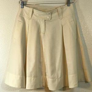❤️ J. Crew Size 6 Cream Lined Skater Skirt: 1247